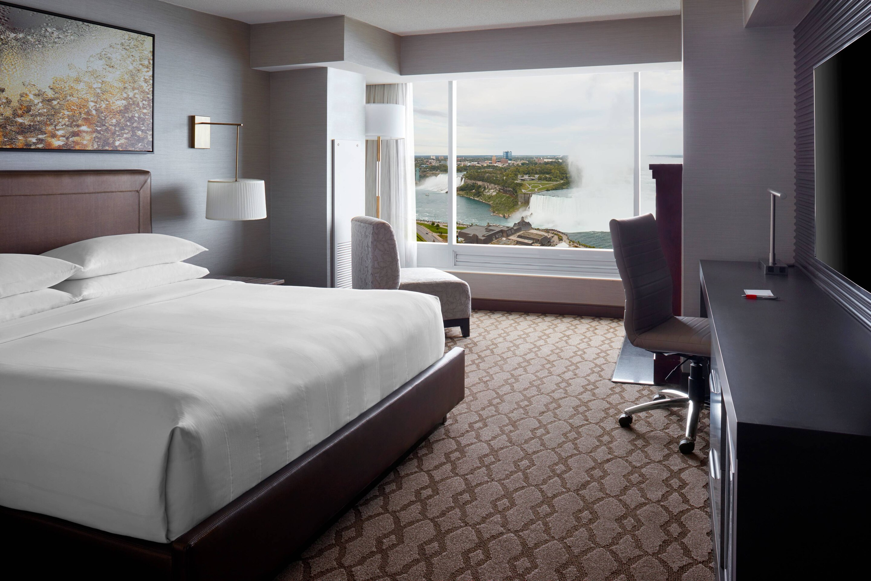 Niagara Falls Marriott Fallsview Hotel & Spa comfortable seating in window with falls view